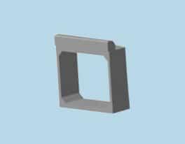 Блоки оголовков прямоугольных труб под звенья тип ЗП