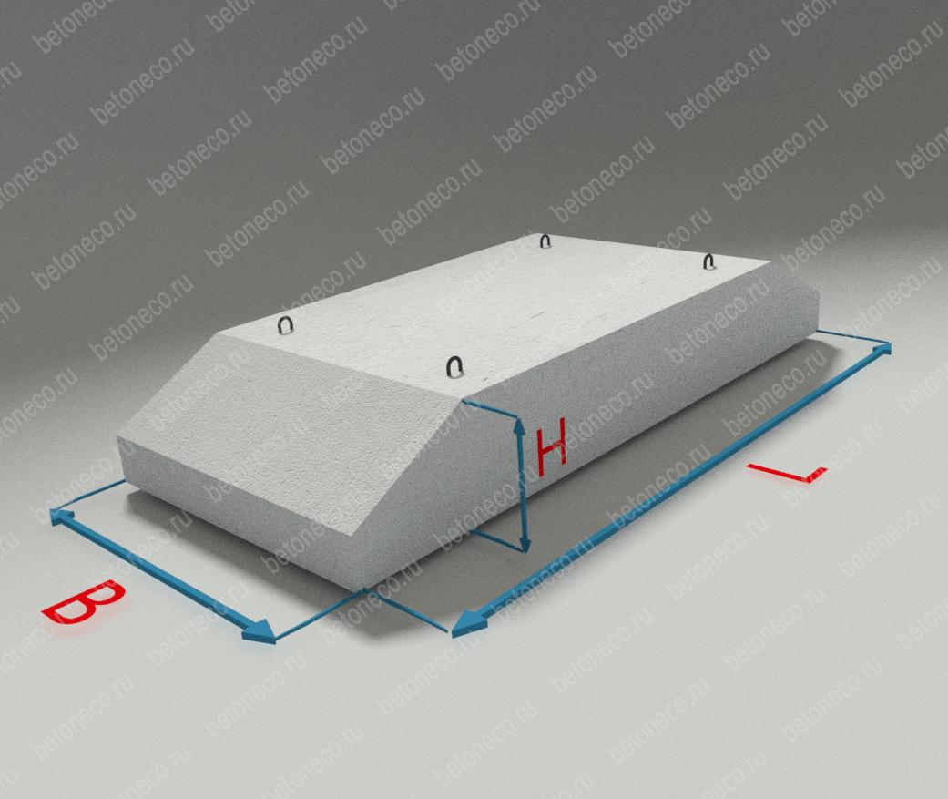 Фундаментные блоки тип ЗКП