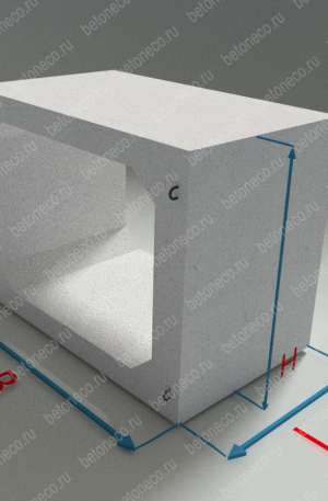 Прямоугольные звенья бетонных труб ЗП