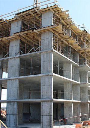 Конструкции каркаса многоэтажных зданий