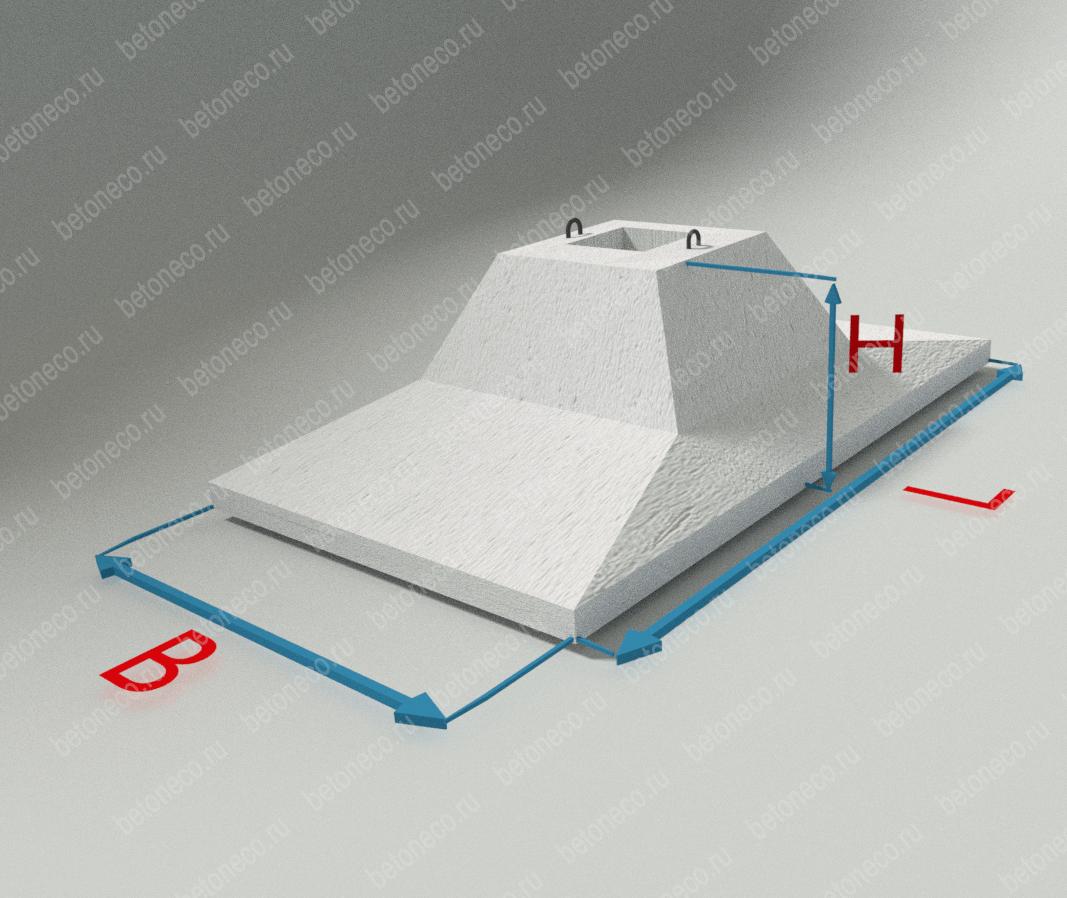 Фундаментные блоки для рамных опор